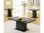 "3PCS TABLE SET,BLACK 23-3/4""L23-3/4""x23-1/2EN"