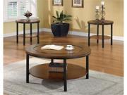 Beate 3 Piece Occasional Table Set in Two Tone Finish by Coaster Furniture