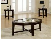Azalea 3 Piece Occasional Table Set in Cappuccino Finish by Coaster Furniture