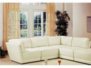 Kayson White Bonded Leather Sectional
