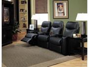Black Leather Theater Seating by Coaster Furniture