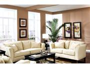 Park Place Collection Sofa Set in Cream Finish