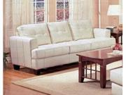 Samuel Collection Cream Leather Sofa by Coaster Furniture