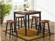 5 Piece Counter Height Dining/Pub Set in Two Tone Finish by Coaster