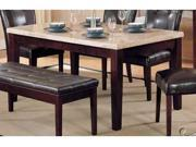 ACME Marble Top Dining Table, Espresso Finish