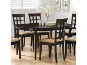 Oval Dining Table in Rich Cappuccino by Coaster Furniture