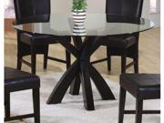 Shoemaker Round Dining Table in Cappuccino Finish by Coaster