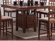 Rich Walnut Counter Height Dining Table by Coaster Furniture