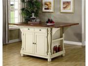 Large Scale Kitchen Island in a Buttermilk and Cherry Finish by Coaster Furniture