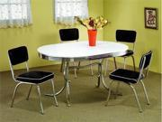 50's Soda Fountain Table and Chairs Set by Coaster Furniture
