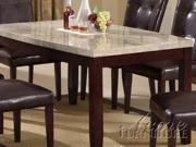 White Marble Top Dining Table by Acme