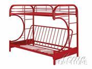 Twin/Full Futon  Bunk Bed Red Finish