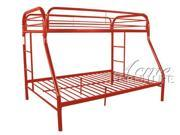 Red Twin/Full Bunk Bed by Acme Furniture