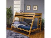 Classic Cottage Natural Wood Twin Over Full Bunk Bed by Coaster Furniture