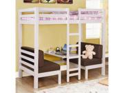 Twin over Twin Convertible Loft Bunk Bed in White Finish by Coaster
