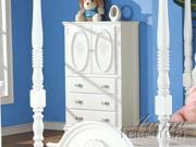 Flora White Finish TV Armoire by Acme Furniture