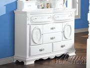 Flora White Finish Dresser by Acme Furniture