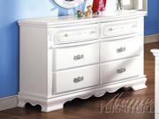 Flora White Dresser by Acme Furniture