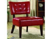Warner Bi-Cast Vinyl Accent Chair - Red By Homelegance Furniture