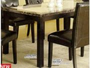 Dining Table with Faux Marble Top in Black Finish by Furniture of America