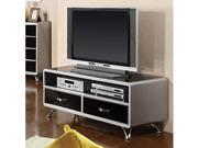 TV Stand in Silver  Black 2-tone Finish by Furniture of America