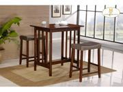 3-Piece Pack Counter Height Set in Cherry Finish of Scottsdale Collection by Homelegance