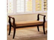 Swansea Foyer Bench in Antique Walnut Finish by Furniture of America