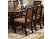 Merlot Side Chair Stripe Cushion in Deep Brown Cherry Finish (Set of 2) by Crown Mark