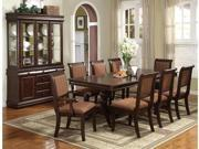 Merlot Collection Buffet and Hutch in Deep Brown Cherry Finish