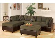 Sofa Sectional Set (Reversible) in Sage by Poundex