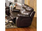 Denisa Rich Brown Leather Motion Loveseat by Coaster