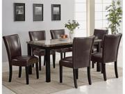 Carter Dining Table with 6 Brown Parson Chairs by Coaster
