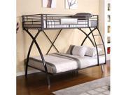 Twin/Full Bunk Bed in Chrome  Dark Gray Finish by Furniture of America