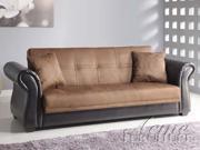 ADJUSTABLE SOFA -Kela Chocolate Microfiber  Espresso PU Adjustable Sofa Set
