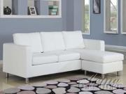 SOFA- White Bycast PU Sectional Sofa
