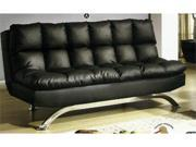 Leatherette Futon Sofa