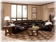 Chocolate Reclining Sectional by Ashley Furniture
