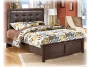 Aleydis Queen Uph Panel Bed in Warm Brown Finish by Ashley Furniture
