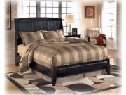 Harmony Queen Sleigh Bed in DeepBlack Finish by Ashley Furniture