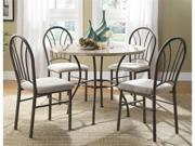 Shawnee 5pcs Casual Pack Dinette Sets in Marble Round by Homelegance