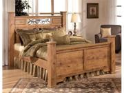 Queen Size Panel Bed in Maple Finish by Ashley Furniture