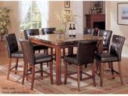 Counter Height Table w/ Marble Top in Brown by Acme Furniture