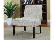 Accent Chair with French Script in White by Coaster