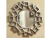 Starburst Accent Mirror in Silver Finish by Coaster