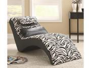 Zebra Print Furniture Chaise for Living Room Comfort by Coaster