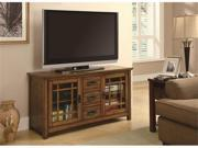 TV Stand with Windowpane Door Fronts in Brown by Coaster
