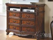 Remington TV Console in Cherry Brown by Acme Furniture