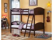 Toshi Twin/Twin Bunk Bed Set in Dark Cherry by Acme Furniture
