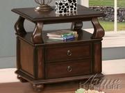 Amado End Table in Espresso by Acme Furniture