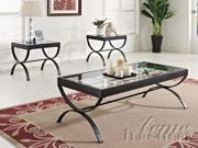 Quintin 3pc Coffee/End Table Set in Black by Acme Furniture